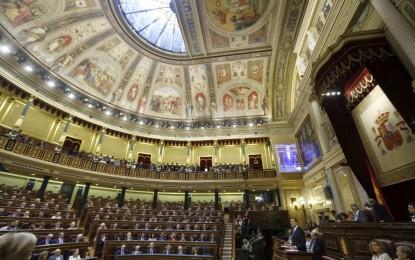 Con299 votos a favor, 19 en contra y 23 abstenciones el Congreso ha aprobado la abdicación del rey