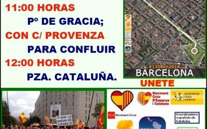 """La plataforma unitaria convocante del 12-O 2014 apela a la """"afirmación del sentimiento de la españolidad de millones de catalanes"""""""
