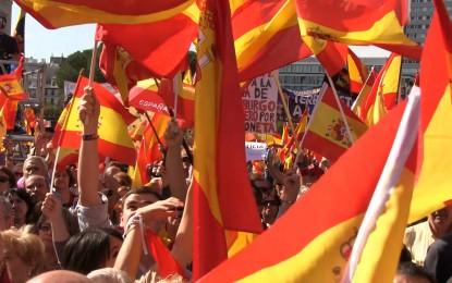 """Ángel Guardia: """"Cantaremos eslóganes como ¡Caña Caña Caña! Cataluña es España, durante el recorrido"""" entre Paseo de Gracia y la plaza de Cataluña"""