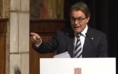 """Artur Mas a fiscales del TSJC, """"no nos conformaremos, Cataluña luchará por la capacidad de decisión propia"""""""