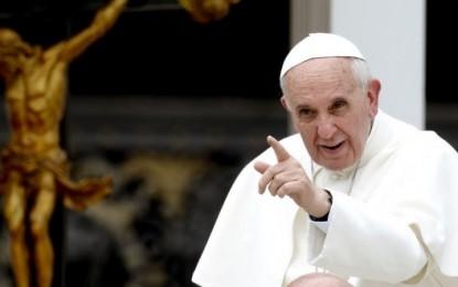 """El PAPA Francisco recuerda que cobrar sobres en negros y """"pagar en negro es pecado"""""""