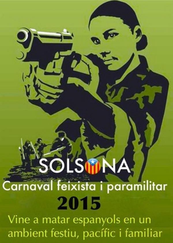 """El alcalde separatista que llamó a """"venir a matar españoles"""" al Carnaval de Solsona se acojona y niega la mayor"""