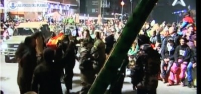 Separatistas catalanes califican al Ejercito Español de Ejercito terrorista, yihadista, de malos, al carnaval de Solsona (4).Movie_Instantánea - copia