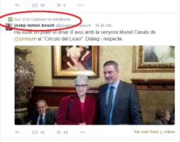 Sociedad Civil Catalana está muy orgullosa por comer con enemigos de España y se complace con fotos