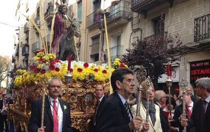 Cofradía de Nazarenos de Barcelona celebra Procesiones esta Semana Santa, Domingo Ramos y Viernes Santo 