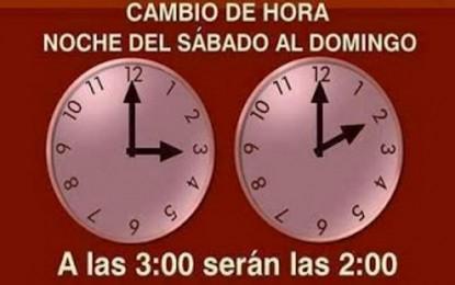 La 'Hora de Verano' comienza la madrugada del domingo, 29 de marzo 2015, a las 02:00 horas