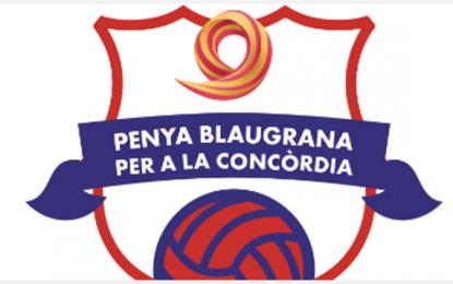 """Sociedad Civil Catalana impulsa su peña de FC Barcelona: """"Peña azulgrana Para la Concordia""""."""