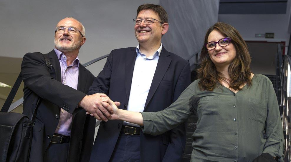 PSOE, Podemos y Compromís establecen cinco ejes programáticos para gobernar en Valencia