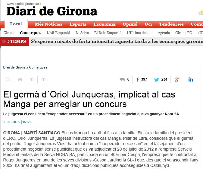 Junqueras es un ladrón del dinero de los catalanes