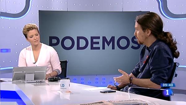María Casado (RTVE) a Pablo Iglesias: «¿Condena usted los atentados de ETA?», Iglesias: «Absolutamente, y la pregunta ofende, Maria»