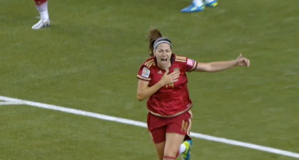 Vicky Losada hace historia con su gol ante Costa Rica .