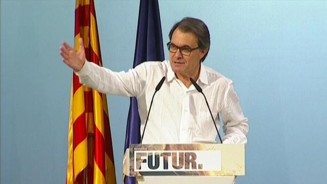 """Artur Mas: """"El sí se puede de la plaza de San Jaime"""" no tiene nada que ver con el """"separatismo catalán"""