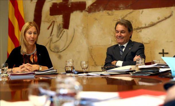 """Artur Mas no dará ningún """"paso atrás"""" en la creación Estructuras del nuevo Estado catalán pese la suspensión del TC"""
