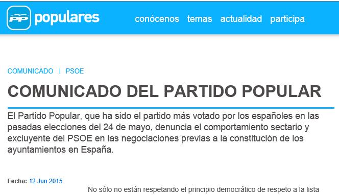comunicado del PP-Bildu-PSOE