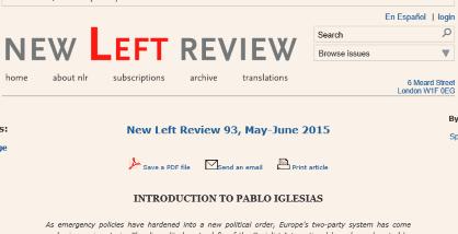 entrevista de Iglesias en New Left Review...