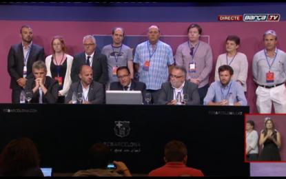 El separatista  Josep Maria Bartomeu ha ganado las elecciones a la presidencia de FC Barcelona con 54,63% de los votos