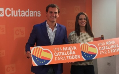 «Una nueva Cataluña para todos», eslogan de Ciudadanos para el 27-S