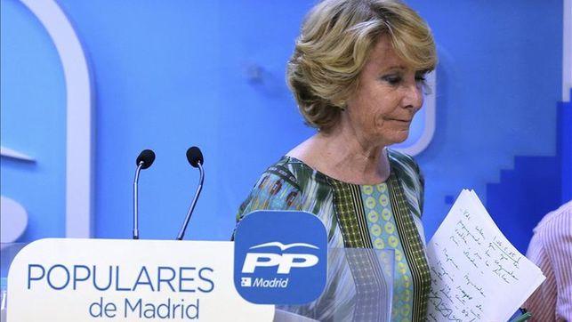 Esperanza Aguirre asume la responsabilidad y dimite como presidenta del PP de Madrid
