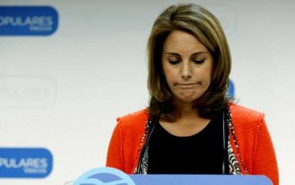 """Arantza Quiroga dimite tras """"fracasar"""" en su objetivo de dar un giro en el PP vasco"""