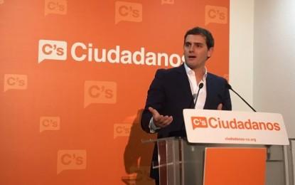 """Rivera: """"Queremos ganar"""" al PP y PSOE, """"no apoyarles. Si no ganamos estaremos en la oposición"""""""