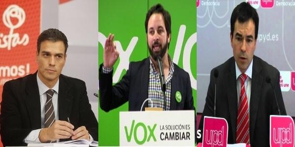 El PP mata a VOX y UPyD y resucita a PODEMOS de Iglesias para destruir al PSOE de Sánchez