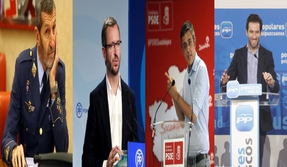 El ex-militar de Podemos; Madina del PSOE; Maroto y Semper del PP fuera del Congreso