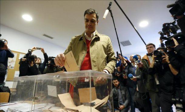 """Pedro Sánchez candidato del (PSOE): """"Huele a cambio"""""""