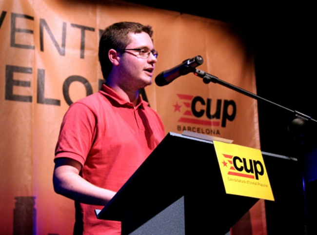 """Monge (CUP) asegura que """"el proceso"""" separatista catalán """"era un fraude"""" y abandona la dirección"""