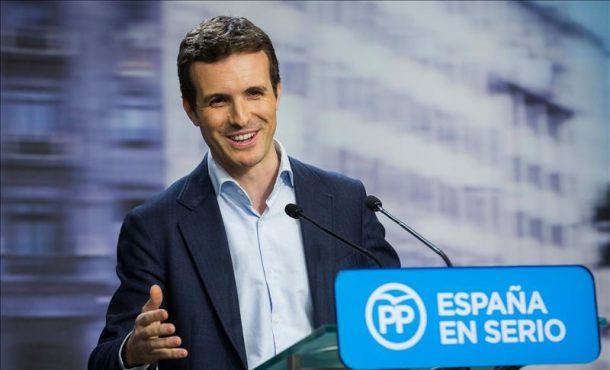 """Casado subraya que PP ha ganado según sondeos y tiene un """"buen respaldo"""""""