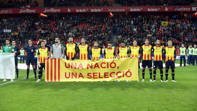 Las selecciones separatistas republicanas Catalana y vasca celebran hoy su eterno amistoso