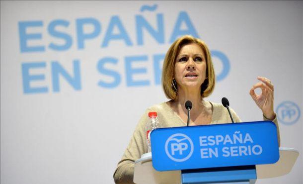 Cospedal pide al PSOE altura de miras en la decisión sobre los pactos de gobierno