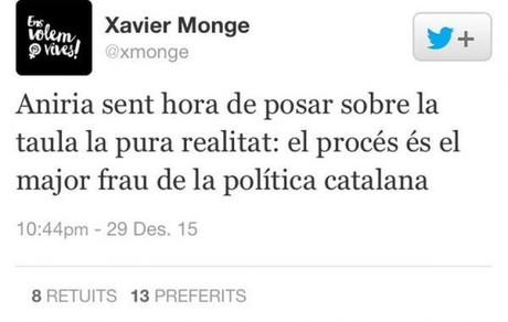 Otro tweet de Xavier Monge