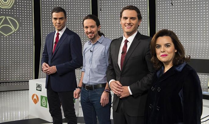 """Tics Machistas de Sáenz Santamaría a """"estos señores"""" durante '7d Debate Decisivo' completo"""