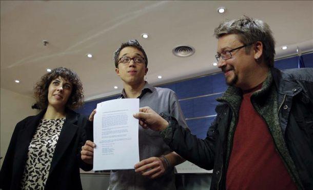 Podemos registra un grupo parlamentario con En Comú y en Marea y Compromís pide uno propio