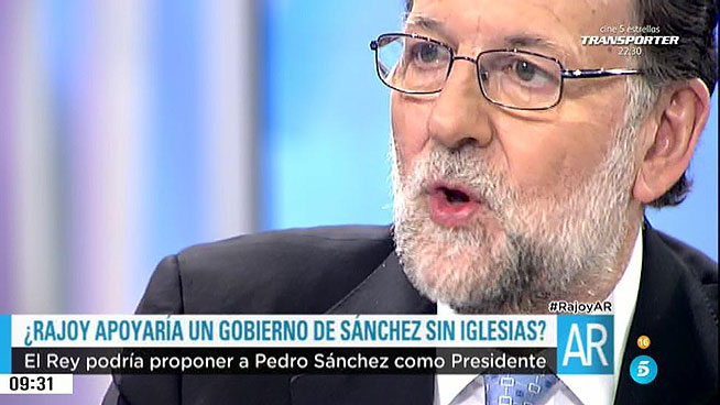 Rajoy ofrece al PSOE gobernar en las CCAA y Ayuntamientos a cambio del apoyo su investidura