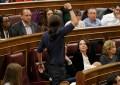 """Diputados de Podemos no se sentarán tras el Gobierno y terminan en el """"gallinero"""" del Congreso"""