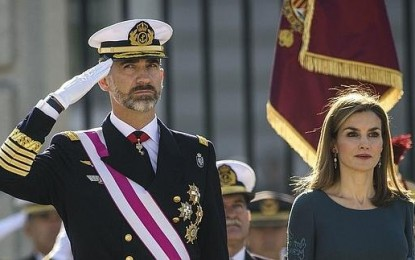 El rey Felipe VI preside la Pascua Militar con el Gobierno en funciones de España