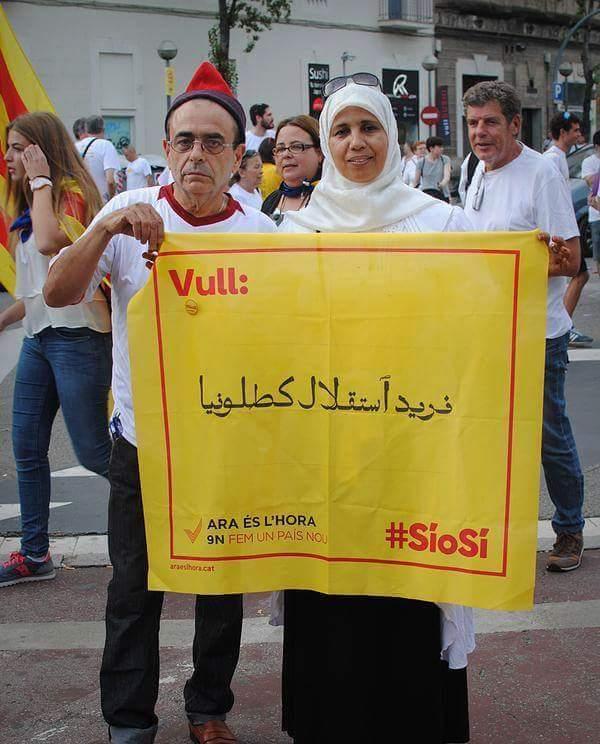 """Una Inmigrante marroquí de Nous Catalans: """"Queremos la independencia de Cataluña"""""""