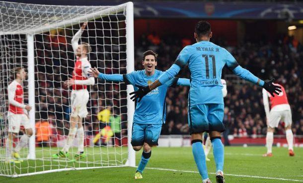 Leo Messi hunde al Arsenal y deja al FC Barcelona con pie y medio en cuartos de la Champión 0-2