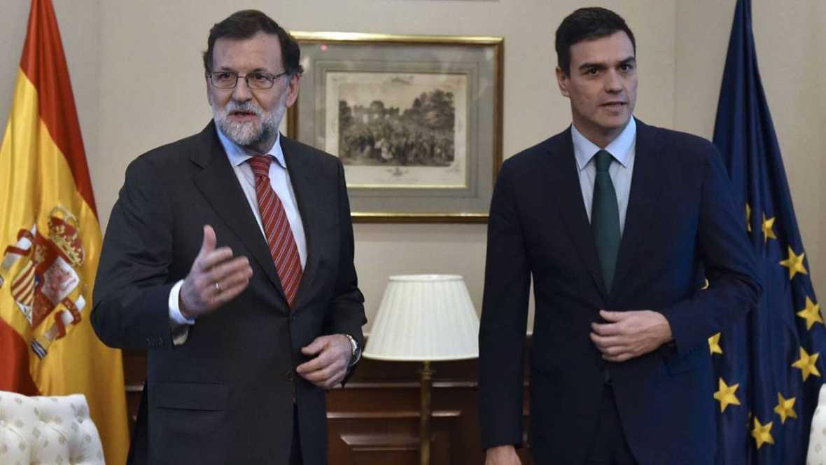 """Rajoy le dice a Sánchez en su reunión que lo """"razonable"""" y """"sensato"""" es un gobierno del PP"""