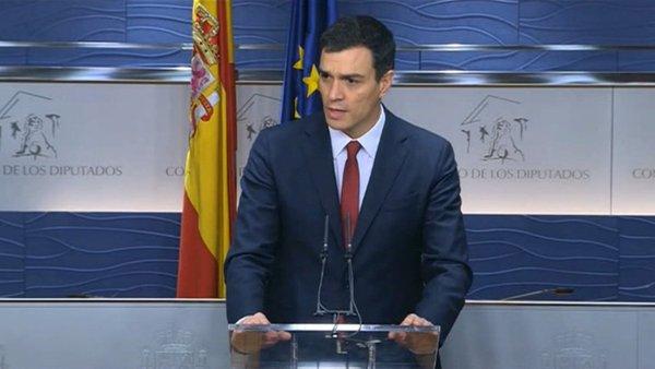 """Sánchez reclama a Rajoy que abandone la """"campaña del miedo"""" y no necesita el apoyo de Rajoy"""