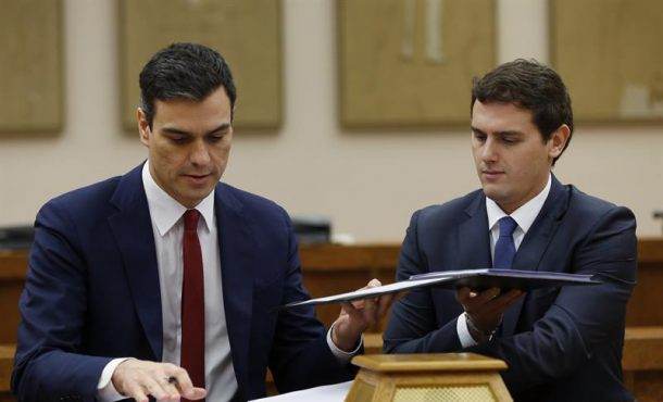 """Documento del """"Acuerdo Para Un Gobierno Reformista y De Progreso"""" entre Ciudadanos y PSOE"""