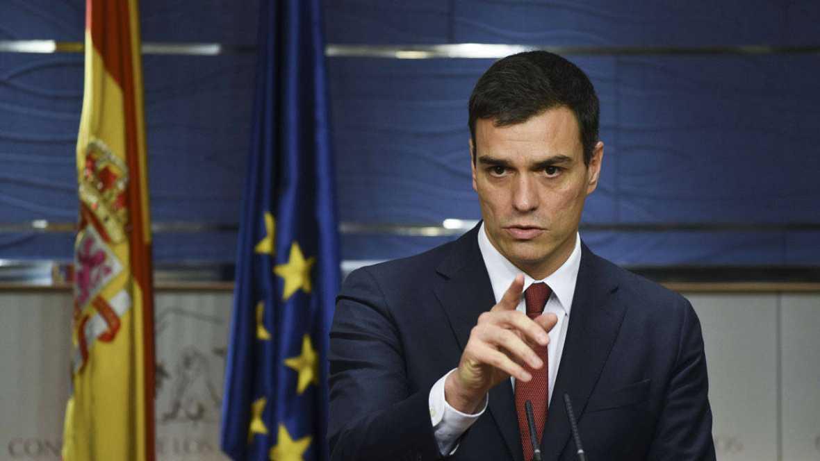 """Sánchez asume la """"responsabilidad de formar gobierno"""" y llama a las """"fuerzas del cambio"""""""