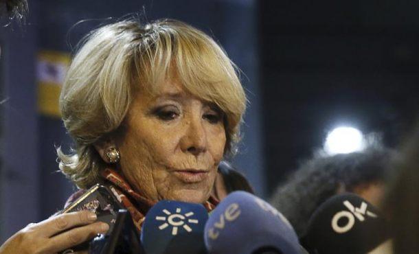 """Aguirre: """"Esto es un registro de… y financiación ilegal del PP de Madrid no ha habido nunca"""""""