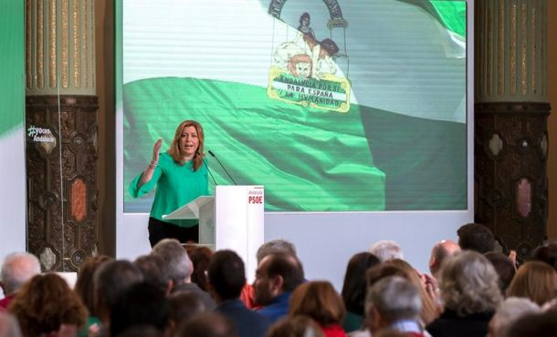 """Susana Díaz defiende el pacto C's-PSOE porque España no puede """"seguir atrapada"""" por """"trileros"""""""