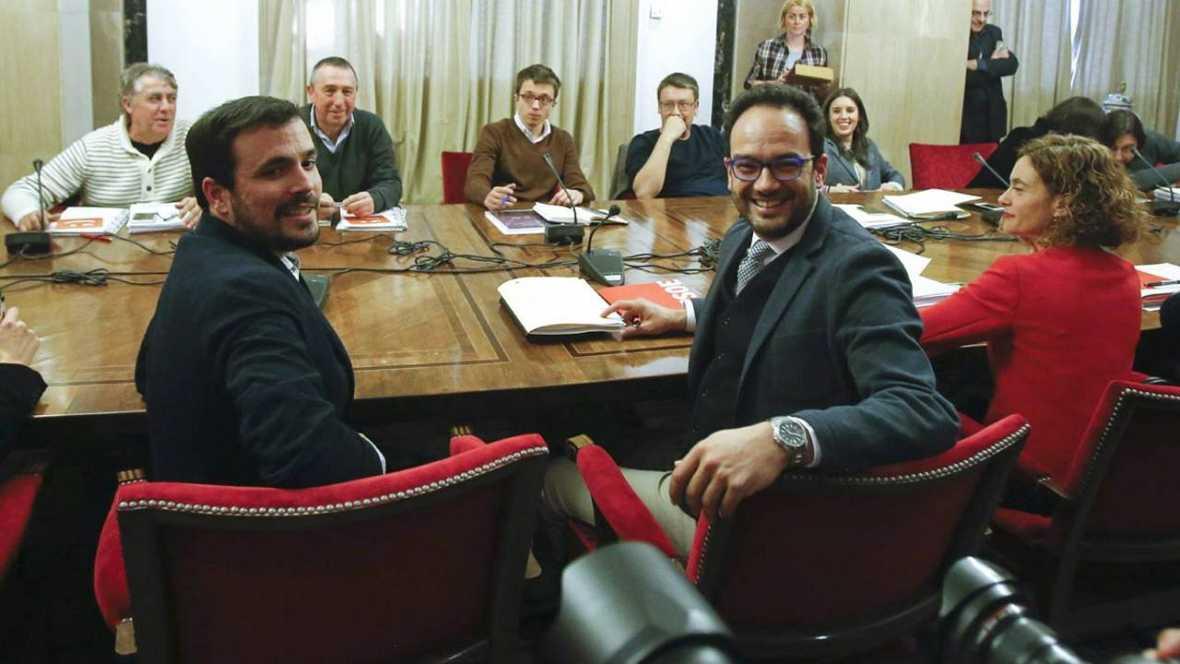"""La reunión a 4 termina con """"avances"""" y PSOE insiste en pactar a la vez con Ciudadanos y Podemos"""