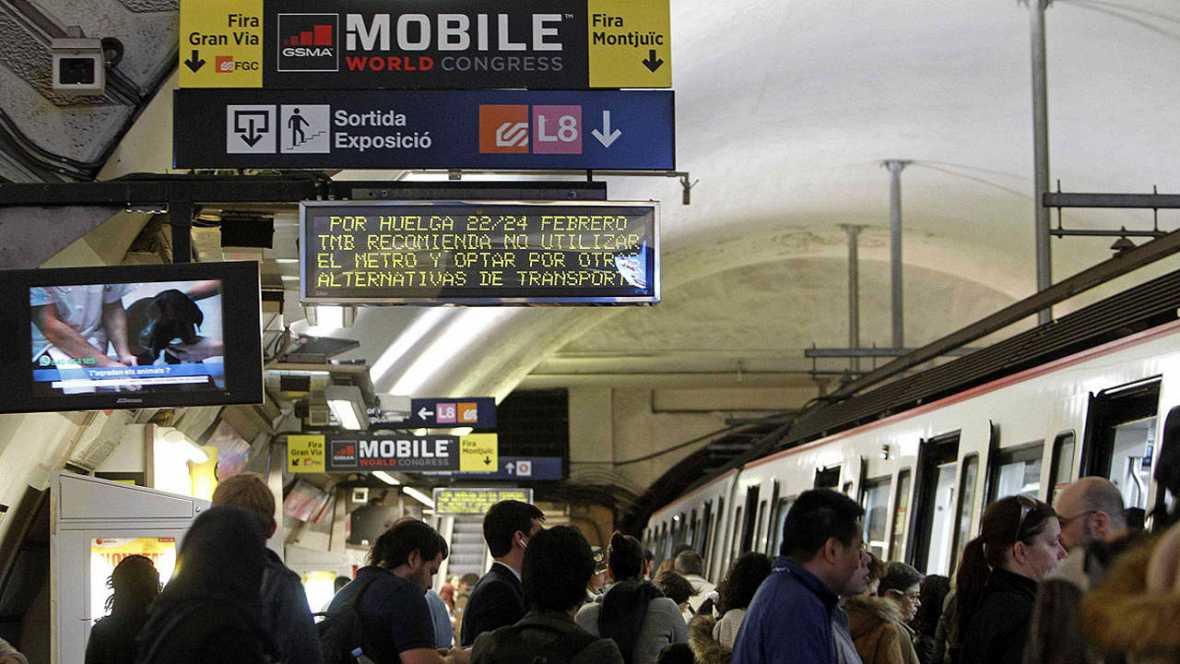 Abandonan las negociaciones y habrá huelga de Metro durante el Mobile de Barcelona (MWC)