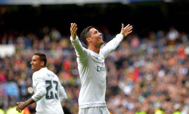 El delantero del Real Madrid Cristiano Ronaldo en la cabeza de la lucha por la Bota de Oro