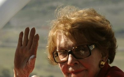 Fallece Nancy Reagan, la ex primera dama estadounidense, a 94 años en su casa de Los Ángeles