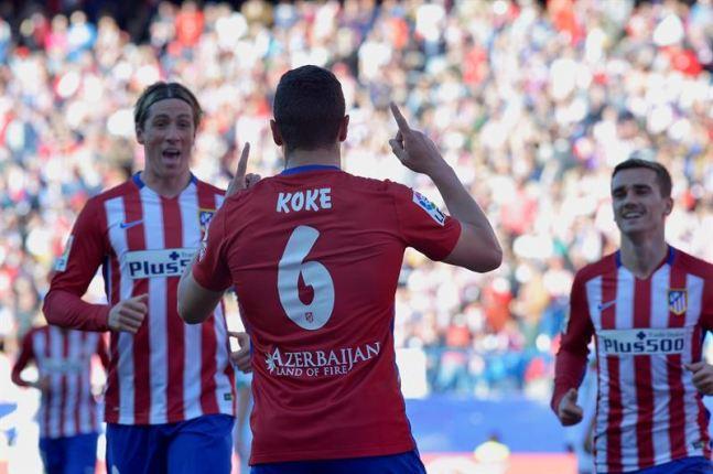 El Atlético recurre a la pegada y a Koke Resurrección para reafirmar su racha frente al Granada (3-0)